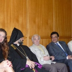 In Lebanon with Charl Aznavour, Armenian Prister and  other VIPs